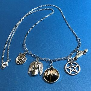 Jewelry - Supernatural Charm Necklace 21 Inches Silver Tone
